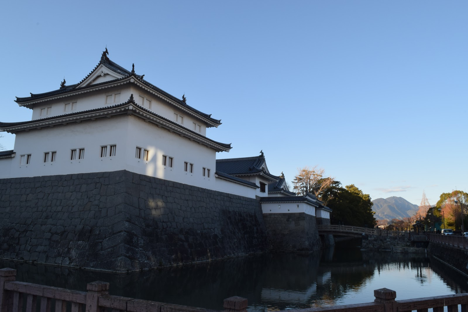 The wall of Sunpu Castle in Shizuoka city