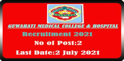 GMCH JRF and Lab Technician Recruitment 2021