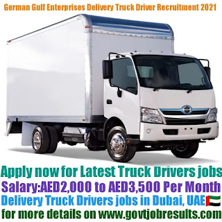 German Gulf Enterprises Delivery Truck Driver Recruitment 2021-22