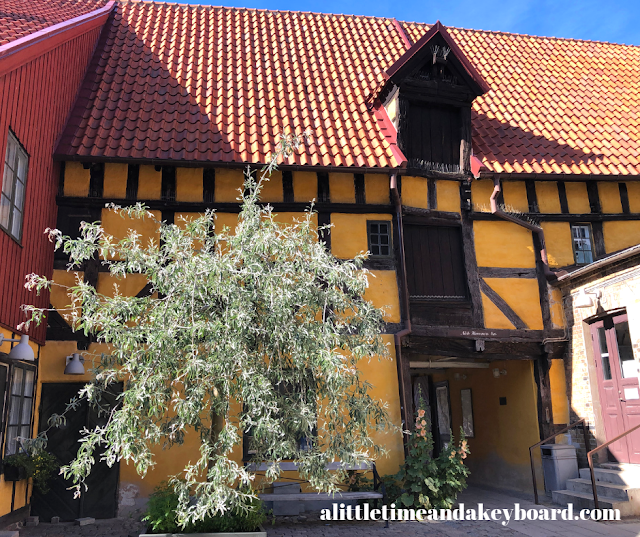 The Merchant's House from the garden in Lilla Torg of Malmo