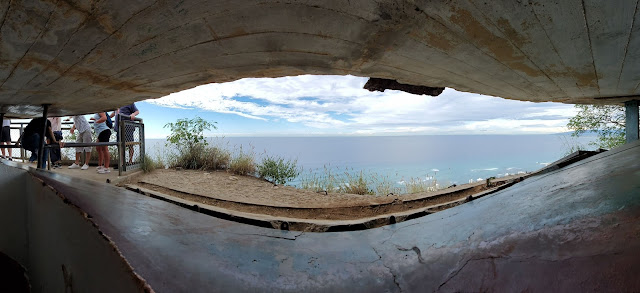 view from lookout bunker