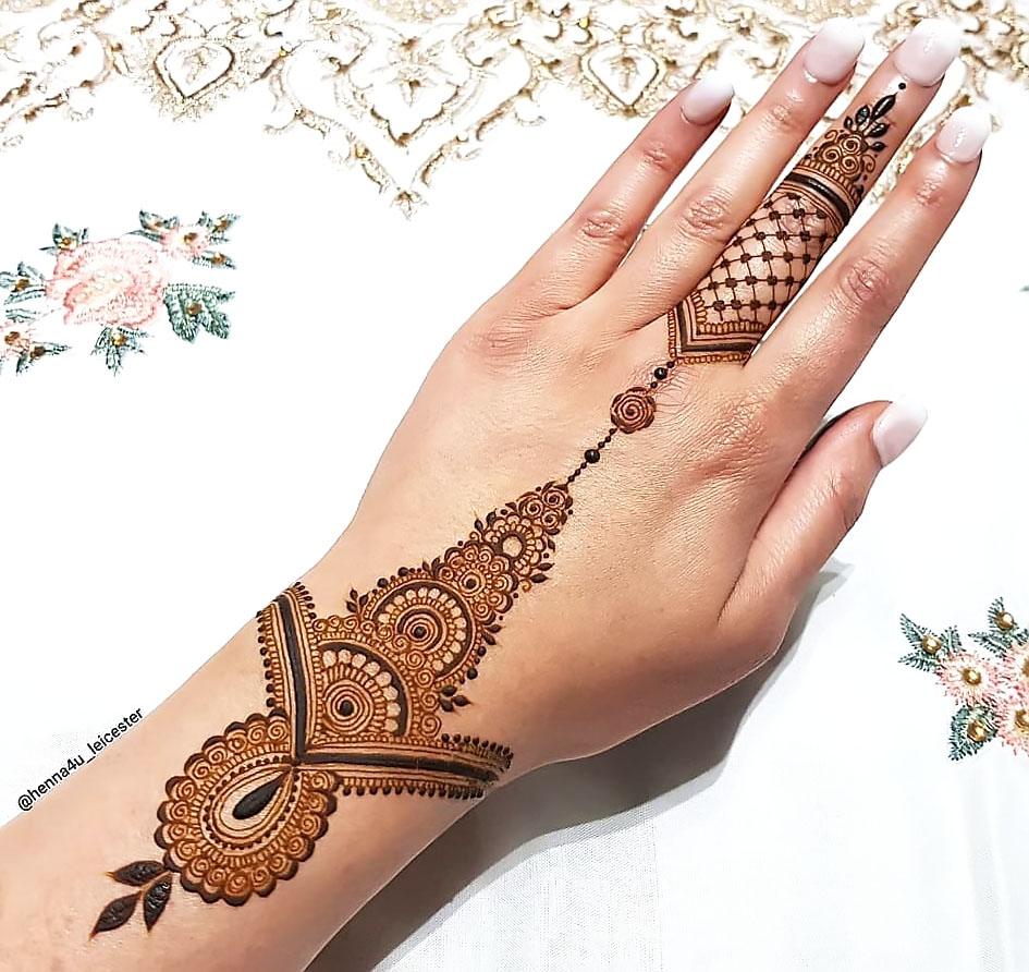 simple jewellery mehndi designs for hands