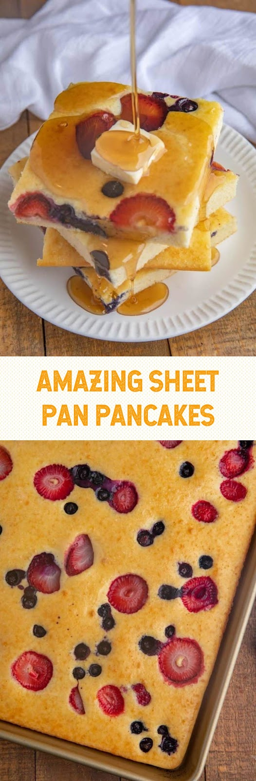 AMAZING SHEET PAN PANCAKES