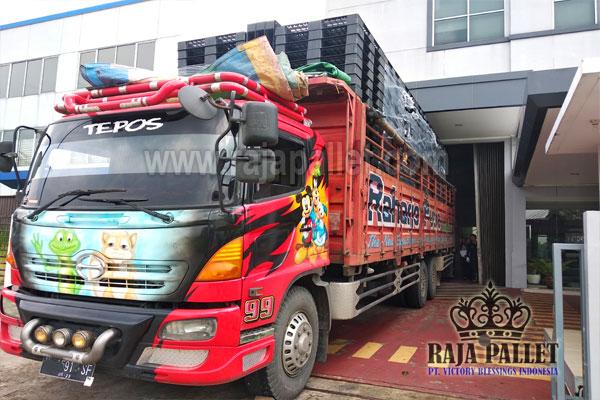 450 Pcs Pallet Plastik Ukuran 120 x 100 x 12 cm Kirim ke Jawa Tengah