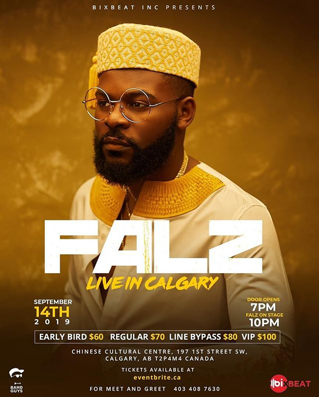 Falz to Hold concert In Canada