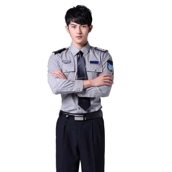 Đồng phục bảo vệ khách sạn màu xám