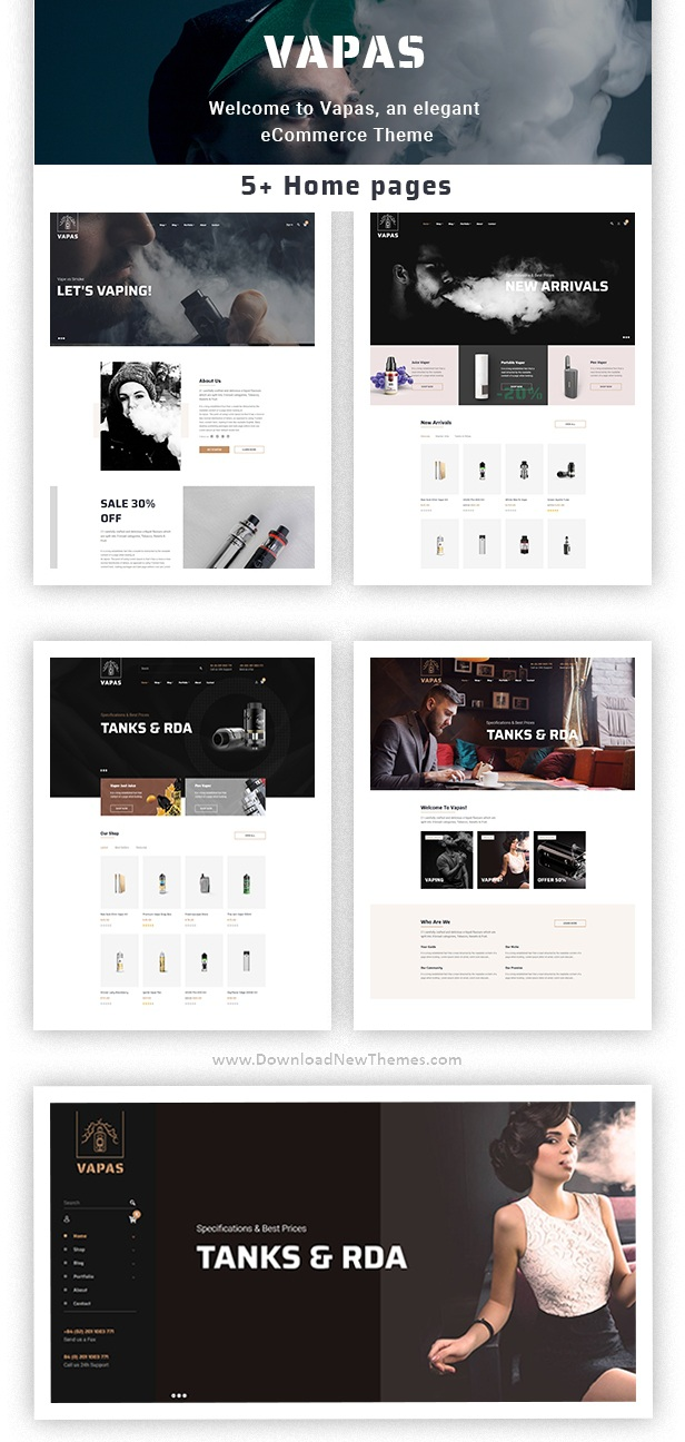Vape Store WooCommerce WordPress Theme