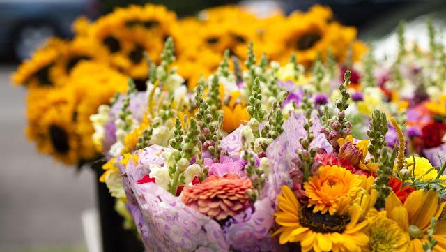 Flowers at the Elmwood Village Farmers Market