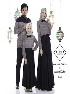 baju seragam muslim keluarga untuk lebaran