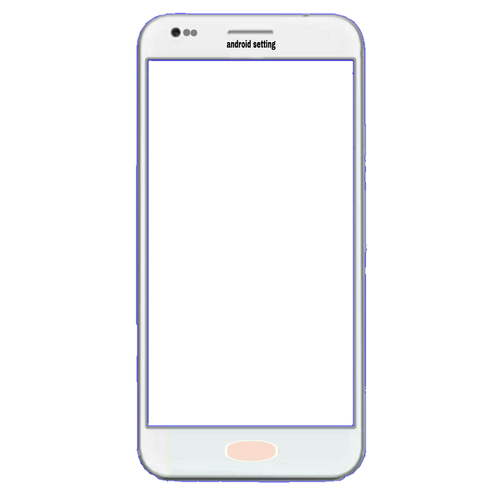 Android setting: Mobile frame png