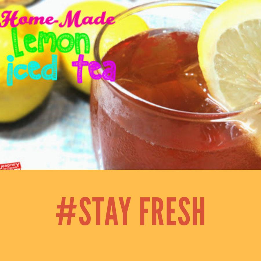 homemade lemon iced tea www.jeepneyrecipes.com