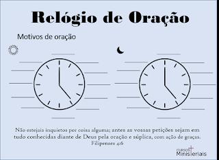 Relógio de oração para imprimir