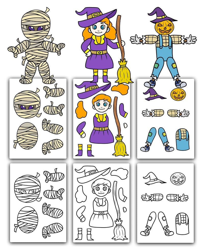 halloween printable paper dolls
