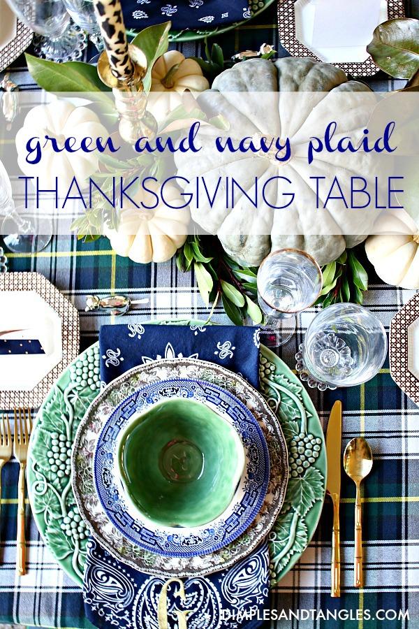 thanksgiving table centerpiece, thanksgiving table decorations, ralph lauren plaid