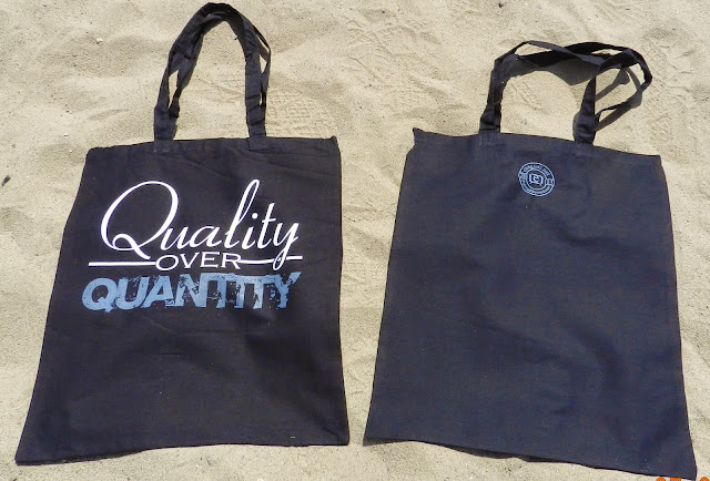 'Quality over Quantity' tote bag from the Freelance Collection