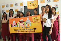 Actress Priya Anand in T Shirt with Students of Shiksha Movement Events 31.jpg