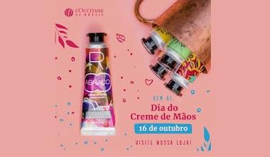 Brindes Grátis: Resgate HOJE dia 16 de outubro um Creme de Mãos na loja L'Occitane Brésil