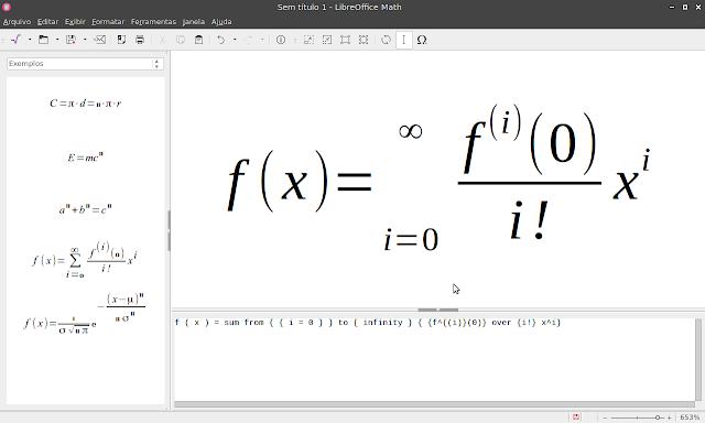 LibreOffice Math 6.1