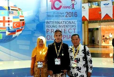 Gold medal International Young Inventors Project Olympiad
