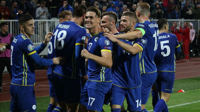 Published list of Kosovo footballers for matches with Czech Republic and England
