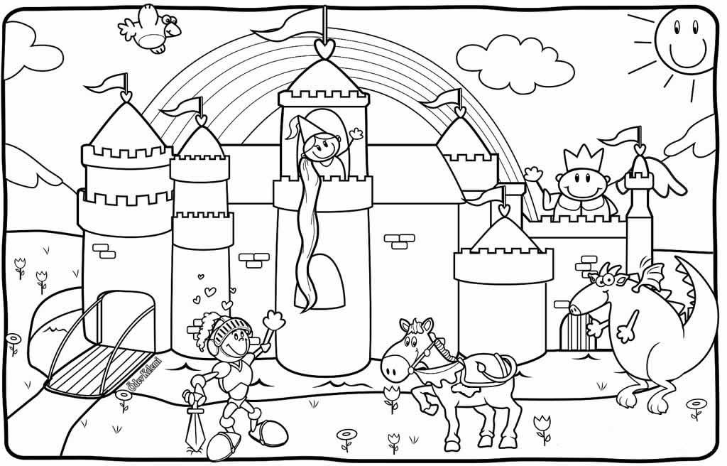 Gorsel Sanatlar Dersi Serbest Etkinlikler 2 Sinif Boyama Rapunzel