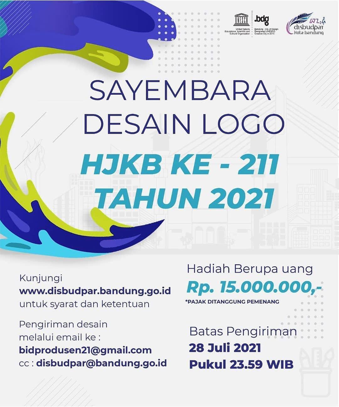 Lomba Desain Logo Hari Jadi Kota Bandung Berhadiah 15 Juta Rupiah