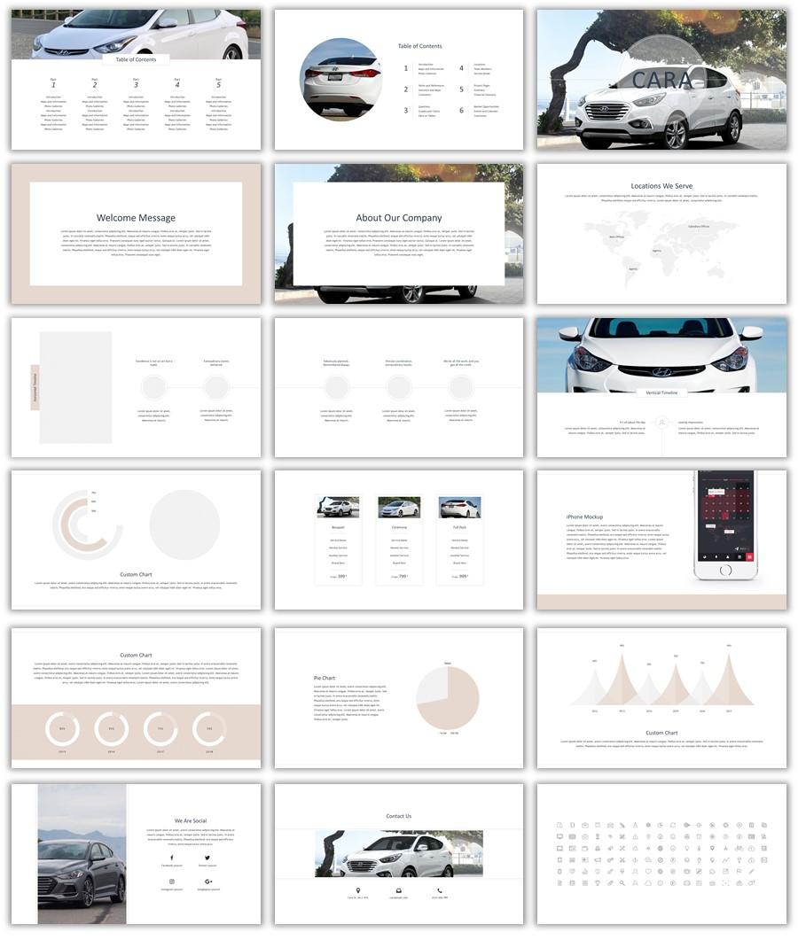 تصميم لتسويق السيارات ppt