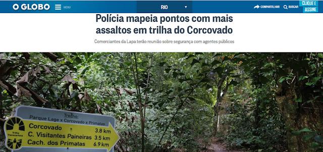 POLÍCIA MAPEIA PONTOS COM MAIS ASSALTOS EM TRILHA DO CORCOVADO