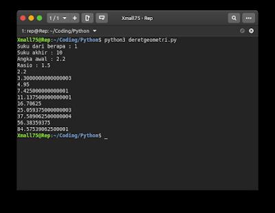 Membuat Program Sederhana Deret Geometri dengan Python