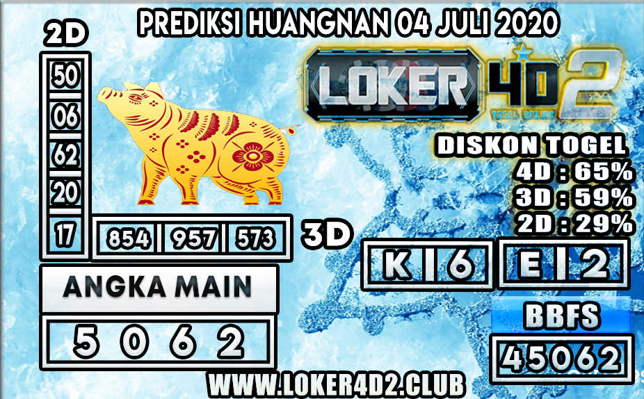 PREDIKSI TOGEL HUANGNAN  LOKER4D2 04 JULI 2020