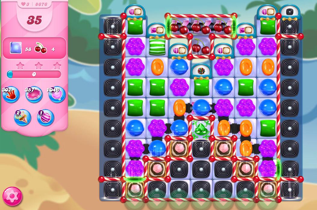Candy Crush Saga level 8676