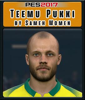 PES 2017 Faces Teemu Pukki by Sameh Momen