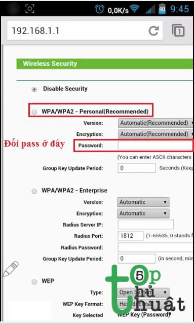 Hướng dẫn đổi mật khẩu Wifi bằng điện thoại iPhone, Android