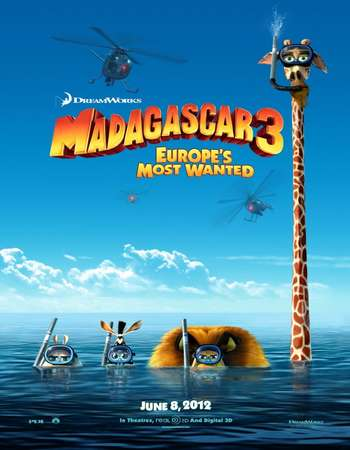 Madagascar 3 Europes Most Wanted 2012 Hindi Dual Audio BRRip Full Movie Download
