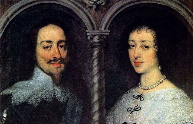 """""""Retrato de Carlos I e Henrietta Mary"""" Anthony Van Dyck"""