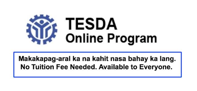 Free Study via Tesda Online Program 2020: Study 40+ Tesda Courses Online for FREE No Tuition Fee