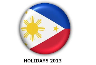 Holidays for 2013