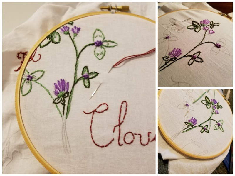 By the Eastern Gate: Red Clover :: Embroidery Template and