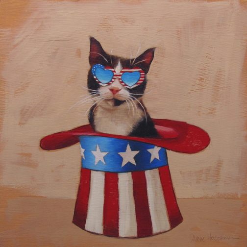 Holiday Cats! July 4th, Independence Day Patriotic Cat