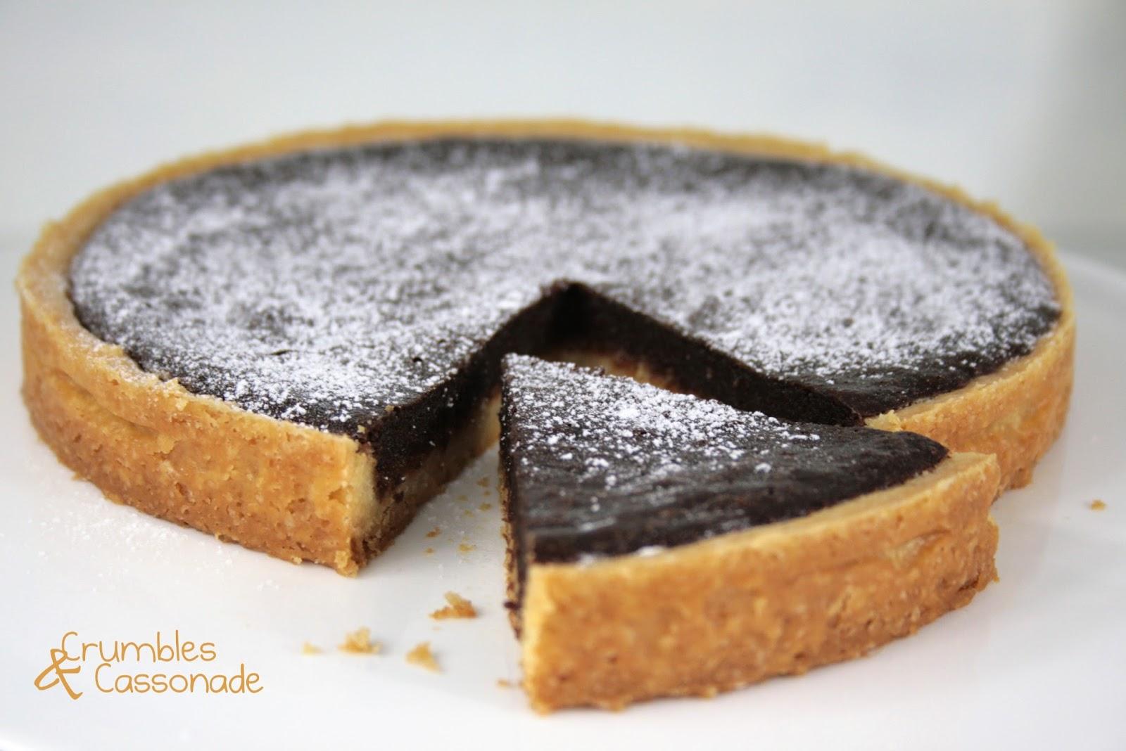 crumbles et cassonade tarte au chocolat et au croustillant de caramel. Black Bedroom Furniture Sets. Home Design Ideas