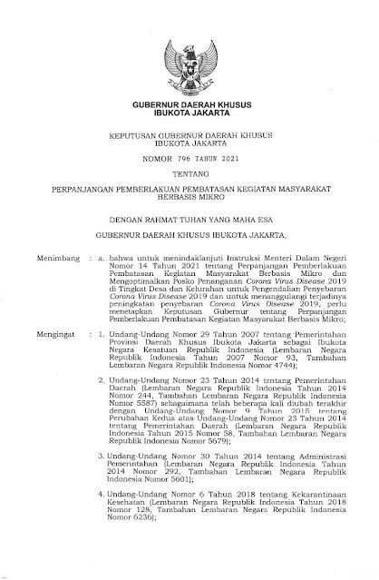 Diperketat, Ini Isi Lengkap Kepgub Terbaru Anies soal PPKM Mikro Jakarta