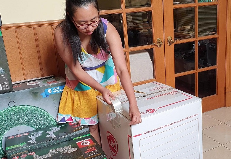 balikbayan box from Melbourne to the Philippines