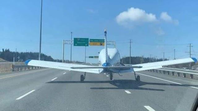 Απίστευτο και όμως αληθινό: Αεροπλάνο προσγειώθηκε σε αυτοκινητόδρομο - Video που κόβει την ανάσα