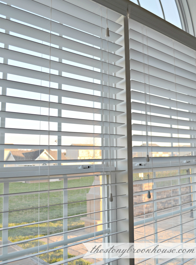 Blinds up with fewer cords hanging