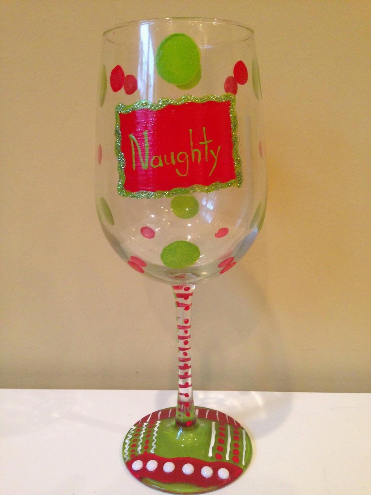 Custom hand painted wine glasses