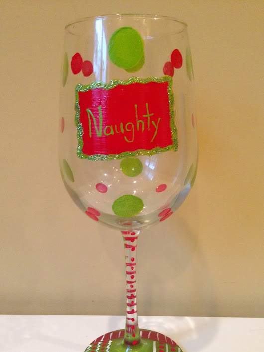How to Paint Wine Glasses - Adding Glitter and Gems (Part Three)
