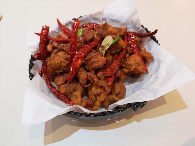 Sze Chuan Chicken in Basket