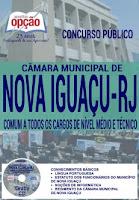apostila para concurso Câmara de Vereadores de Nova Iguaçu-RJ, cargos de Nivel Médio e Técnico