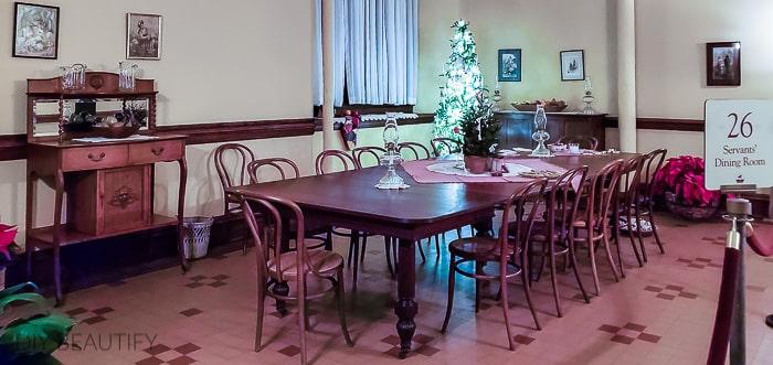 servants' dining room