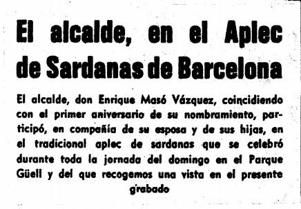 El alcalde, en el Aplec de Sardanas de Barcelona.